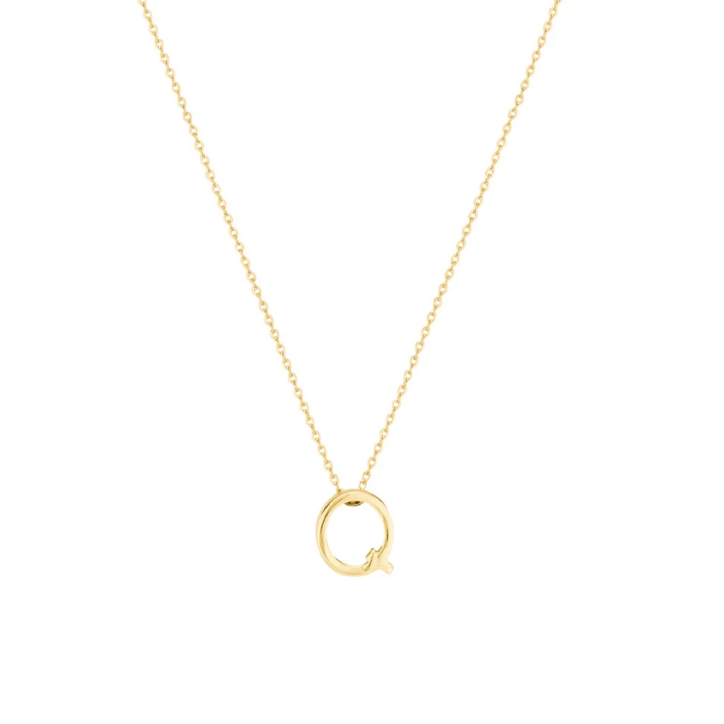 Gold Letter Necklace - Q