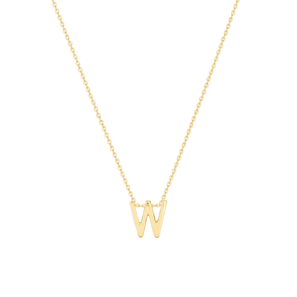 Gold Letter Necklace - W