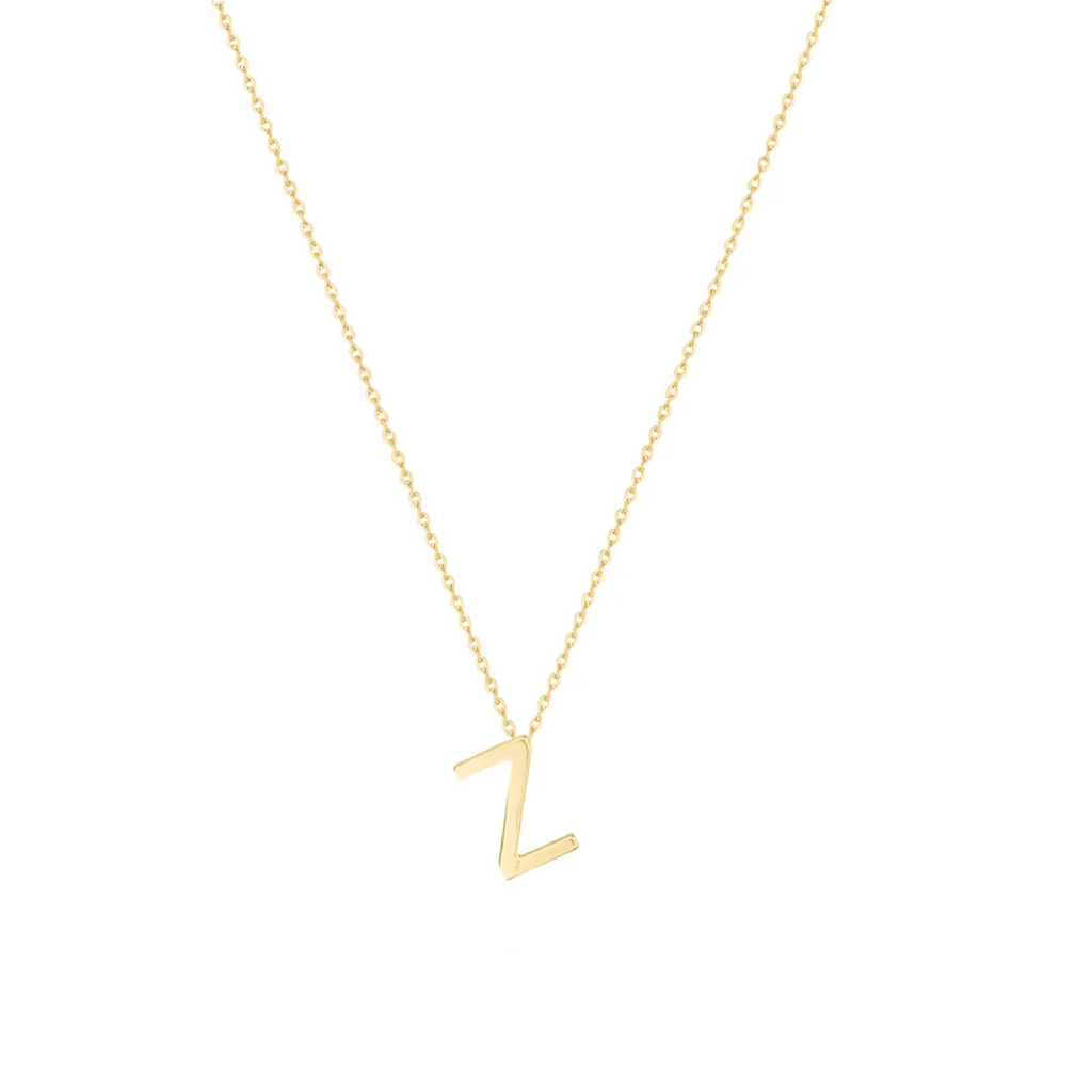 Gold Letter Necklace - Z
