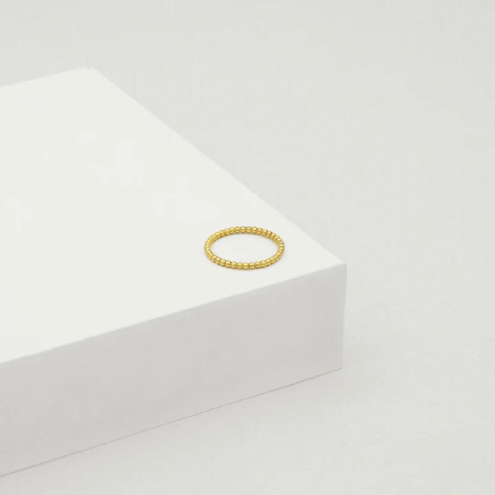 Bead Ring - Yellow Gold