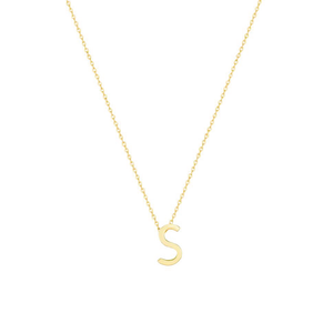 Gold Letter Necklace - S