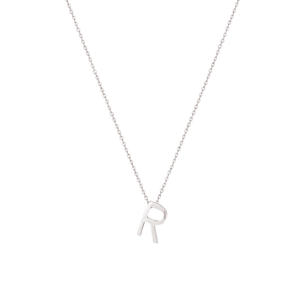 Sterling Silver Letter Necklace - R