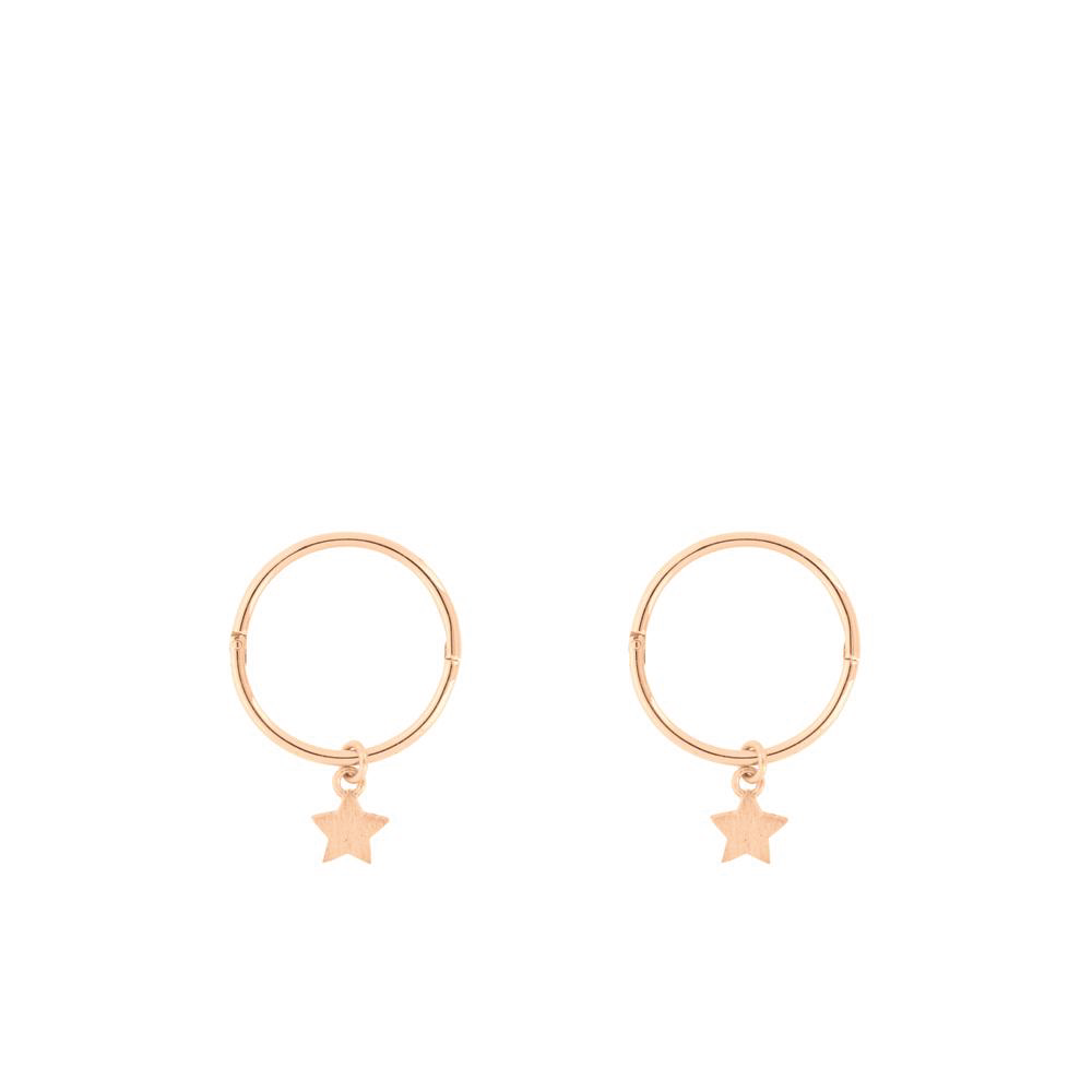 Tiny Star Sleeper Hoop - Rose Gold