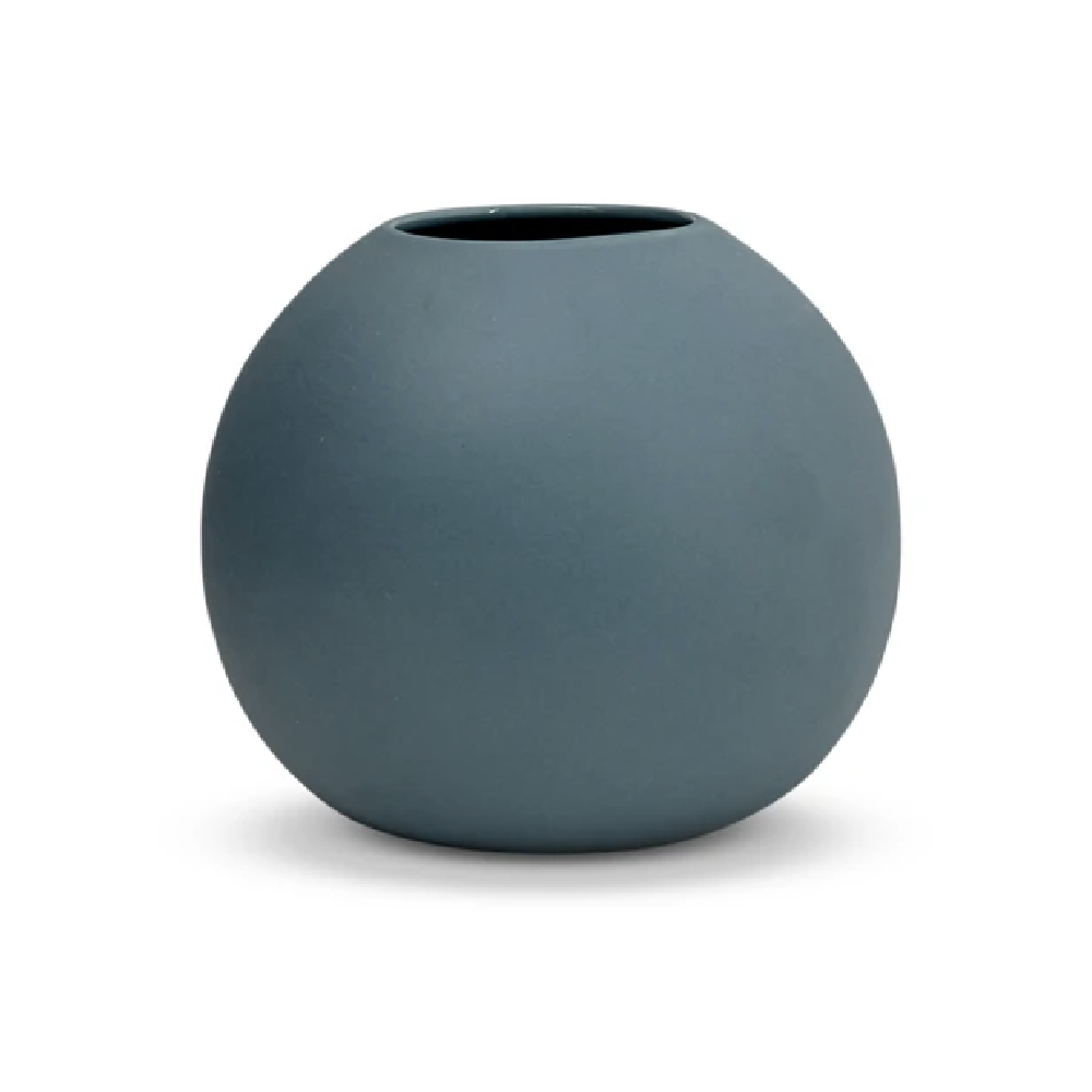 Steel Blue Bubble Vase - Medium