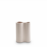 Small Ribbed Infinity Vase - Nude