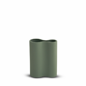 Small Ribbed Infinity Vase - Leaf