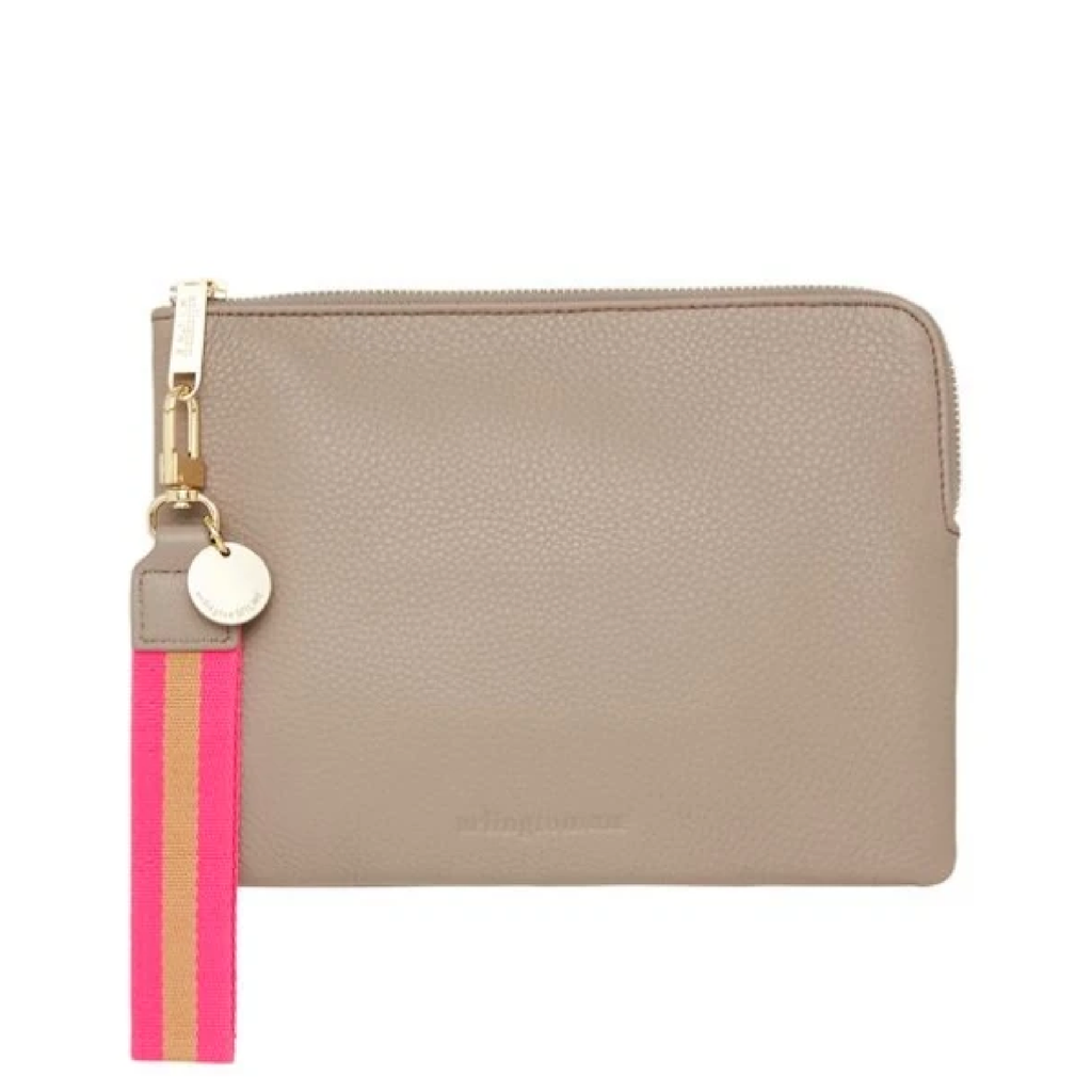 Paige Clutch w Wristlet - Putty