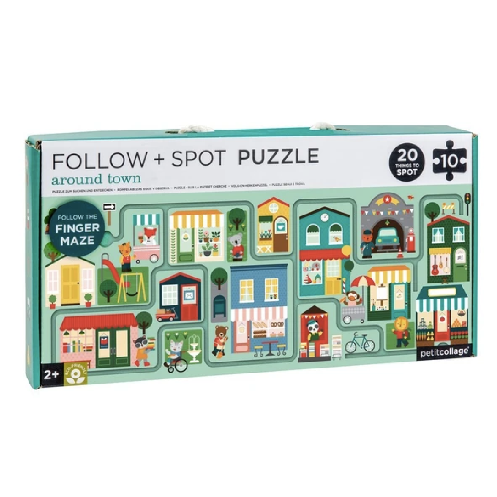 Follow & Spot Puzzle - Around Town