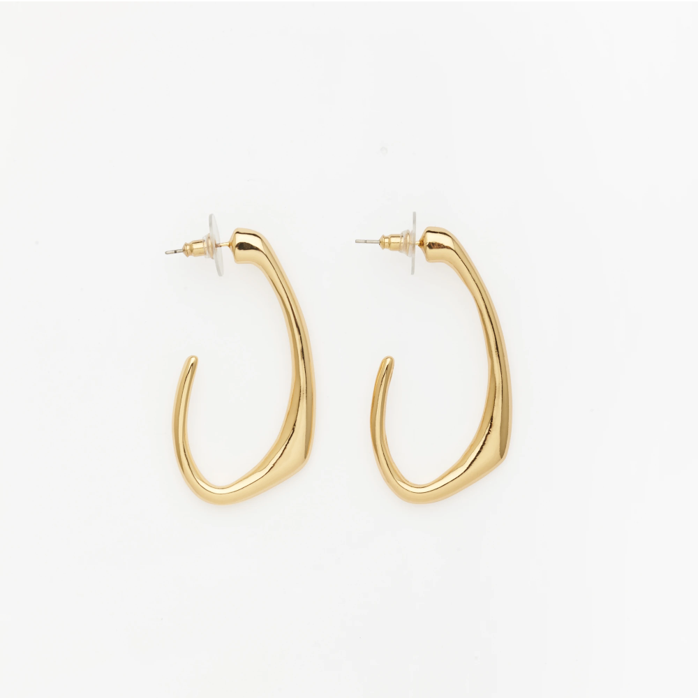 Bold Statement Earrings - Gold