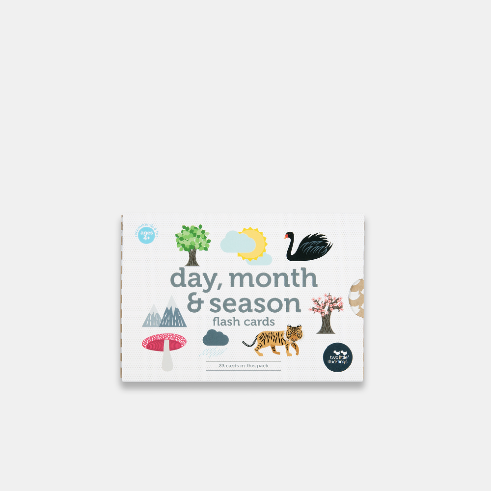 Days & Months, Seasons Flash Cards