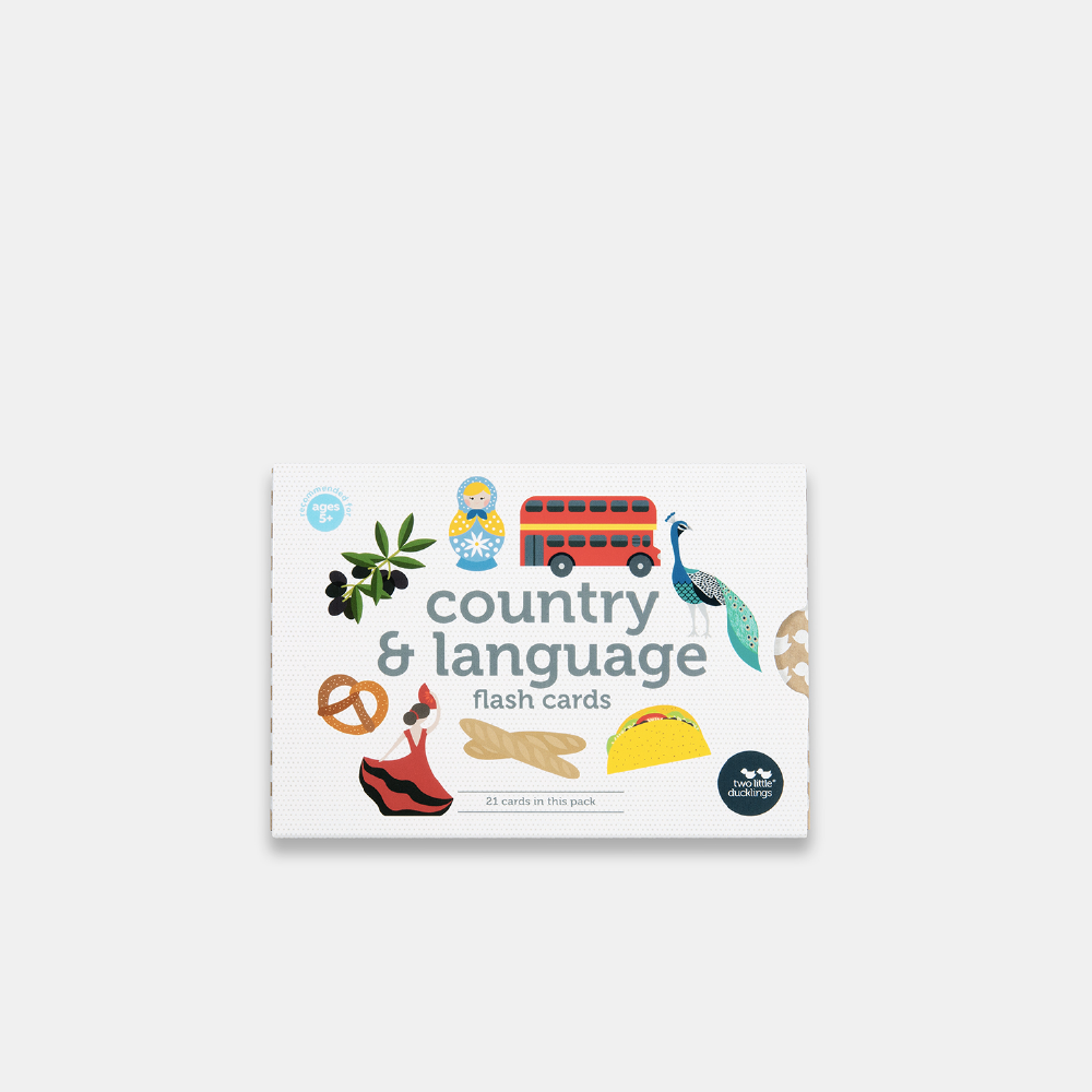 Country & Language Flash Cards