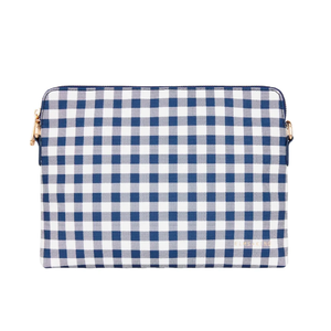 Bowery Clutch - Navy Gingham