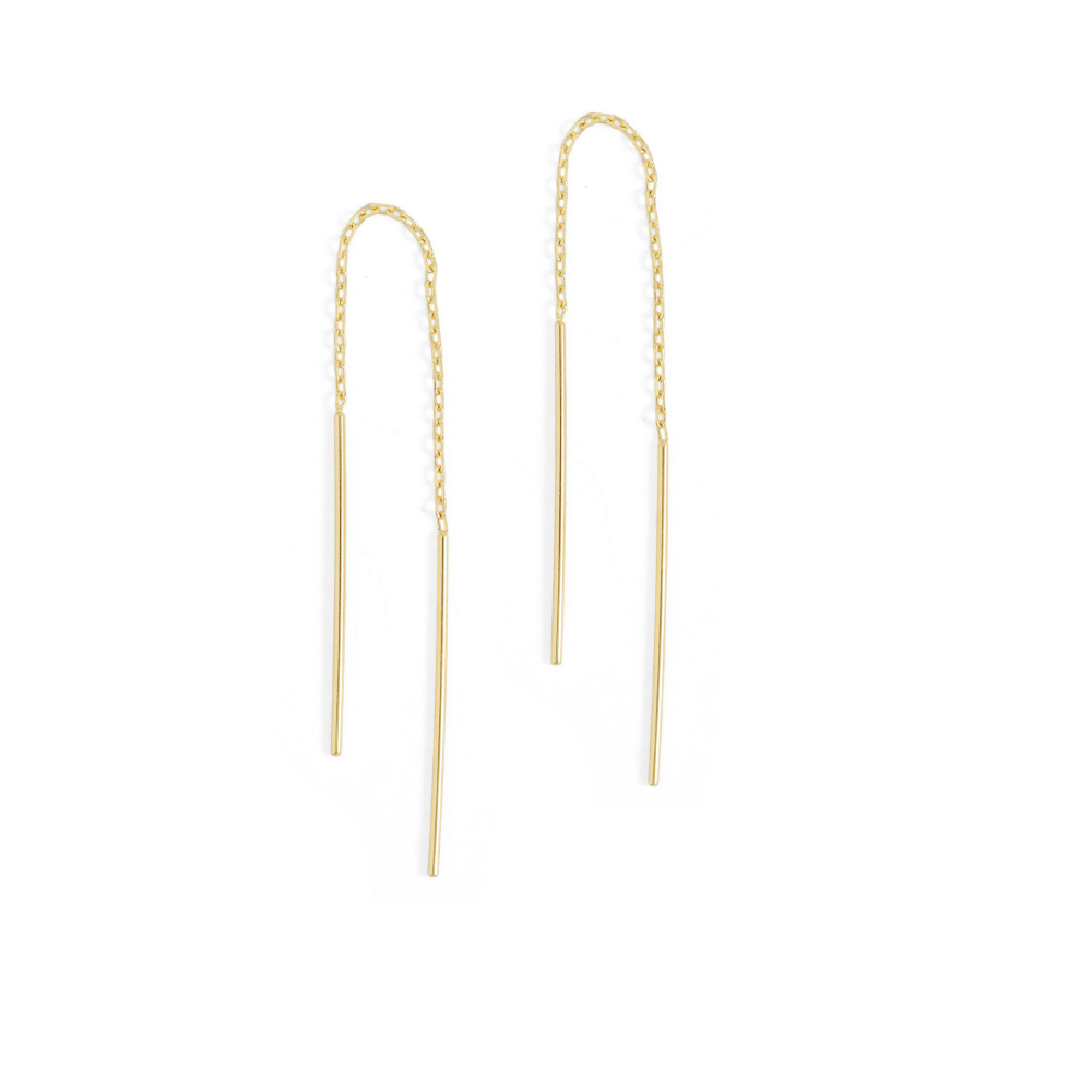 Thread Earrings - Gold