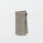 Black/Natural Linen Napkin / 4 pack