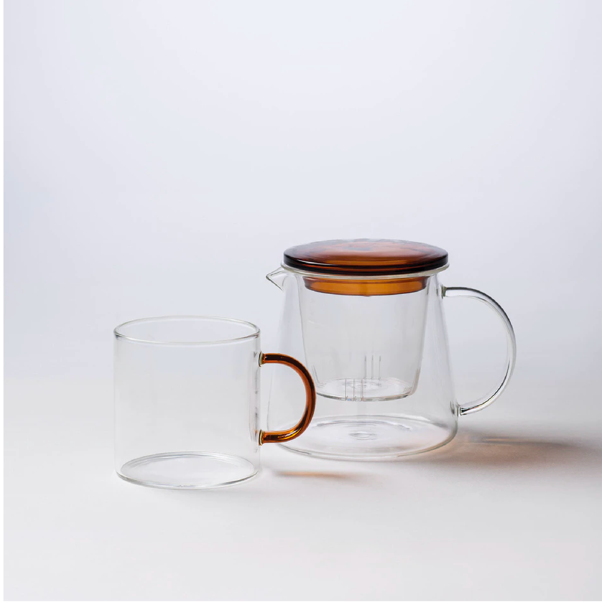 Glass Mug - Amber Handle