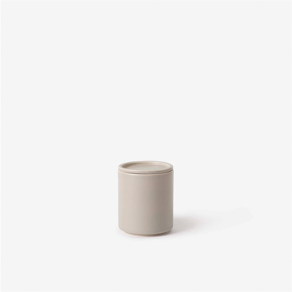 Tall Bower Ceramic Canister - Oyster