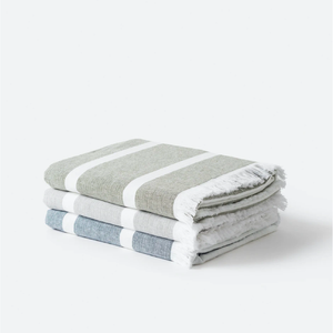 Stripe Organic Cotton Towel - Grey