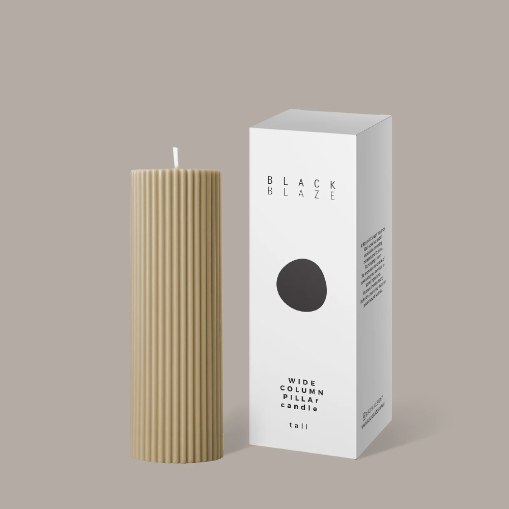 Wide Column Pillar Candle - Honey