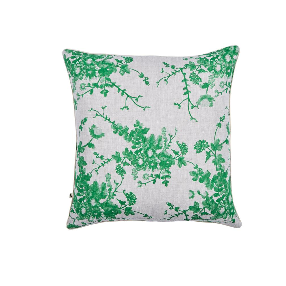 Field Floral Green Cushion