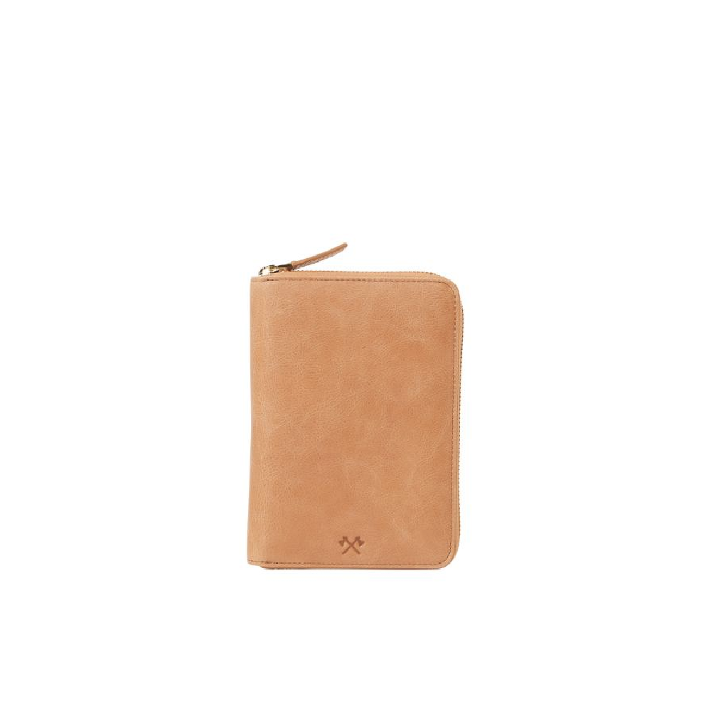 David Passport Wallet - Vintage Tan