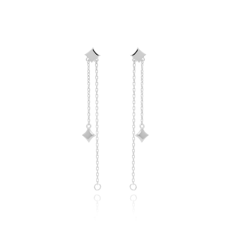 Night Star Drop Earring - Silver