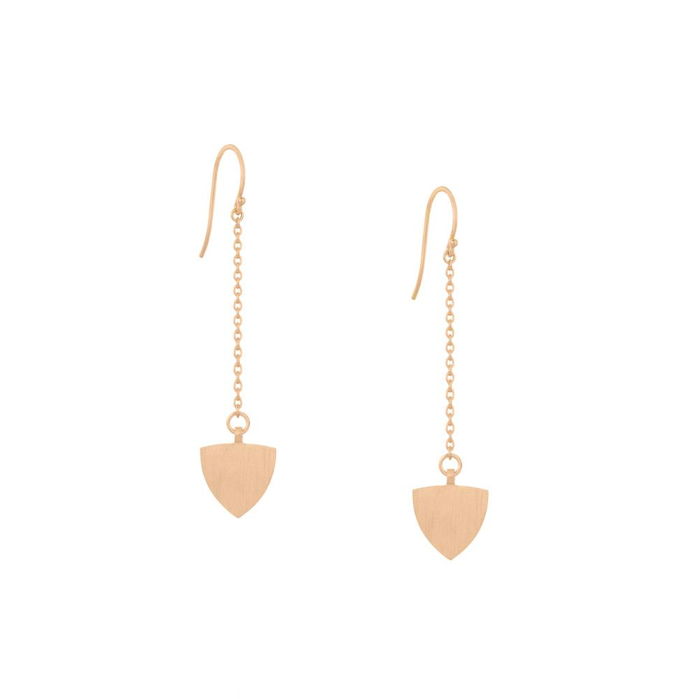 Transit Chain Drop Earring - Rose Gold