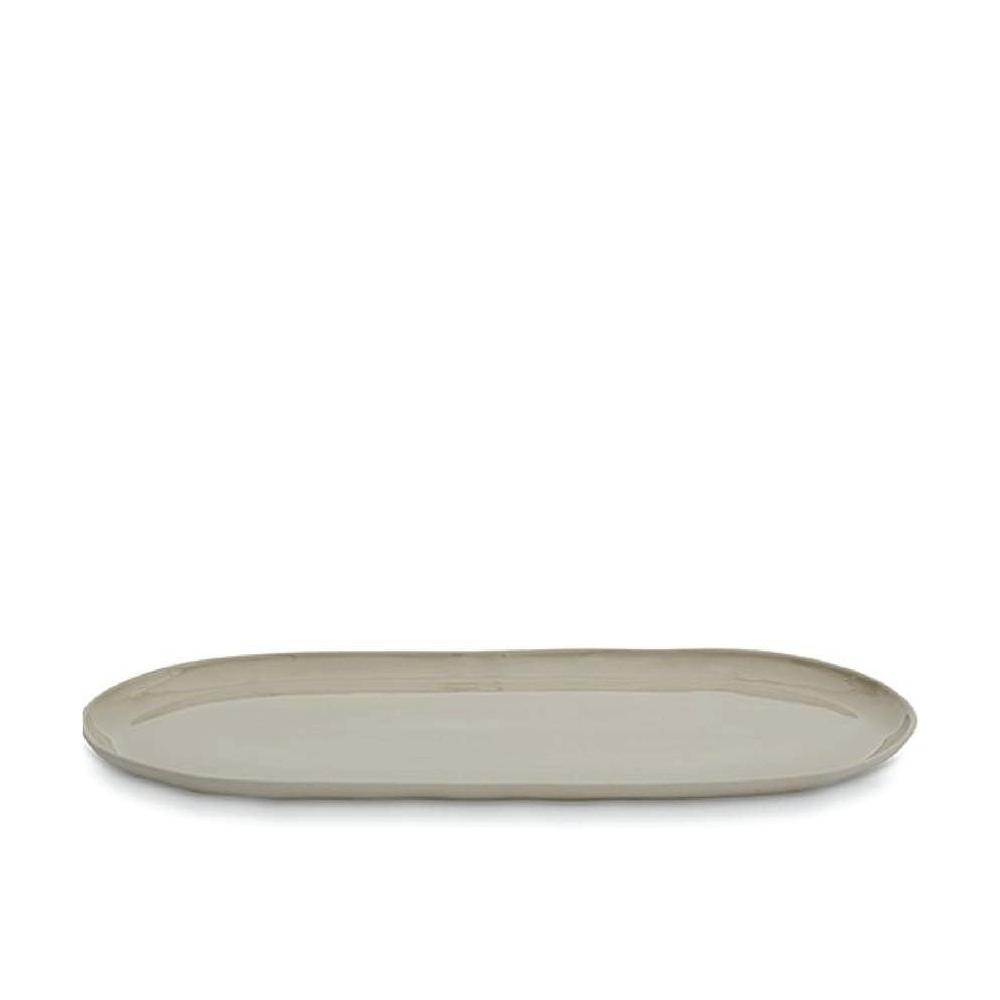 Dove Grey Oval Plate - Large