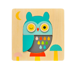 Owl Chunky Wooden Tray Puzzle