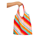 Nylon Shopper - Candy Stripe