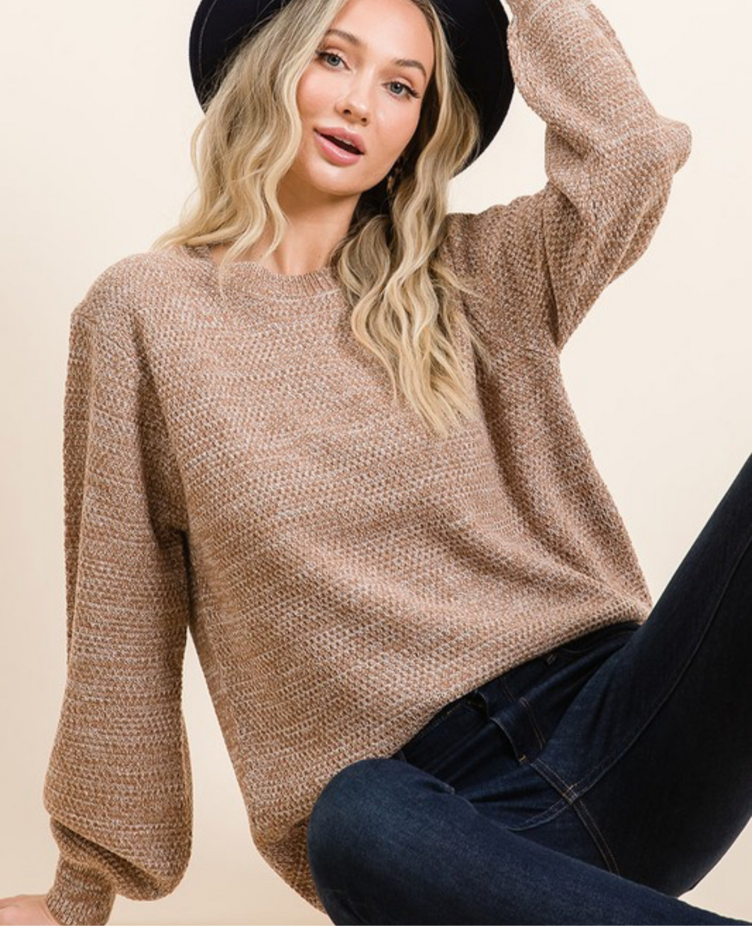 Keep Me Cozy Sweater - Camel