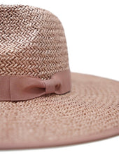Load image into Gallery viewer, Rose Wide Brim Straw Rancher Hat - Olive & Pique