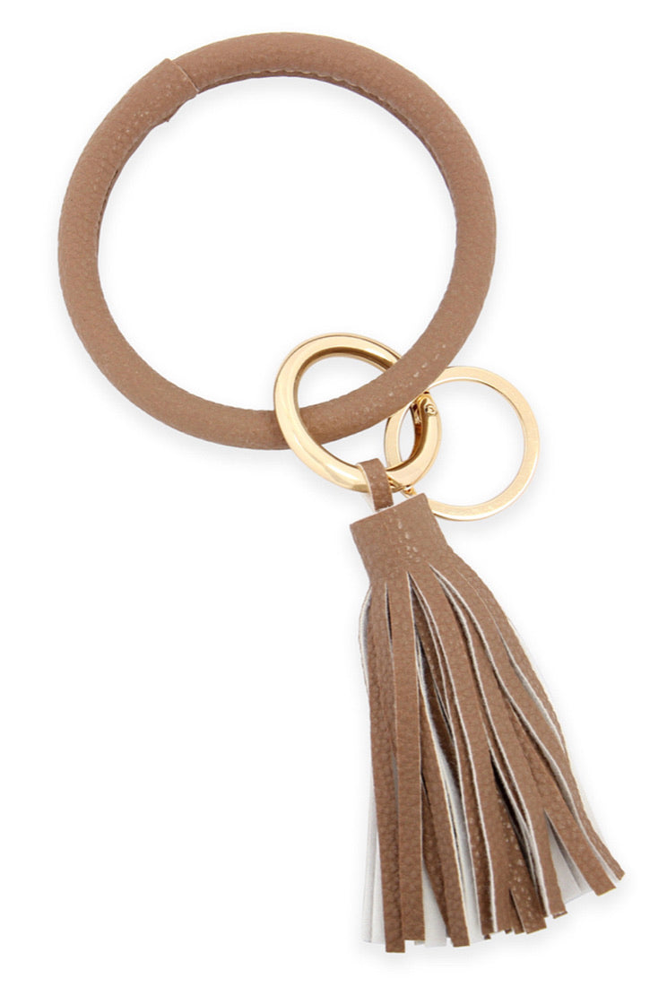 Key Ring Bracelet With Tassel