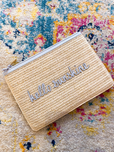 Hello Sunshine Straw Clutch - Katie Loxton