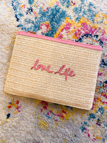 Love Life Straw Clutch - Katie Loxton