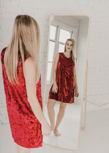 Night on the Town Velvet Dress - Red
