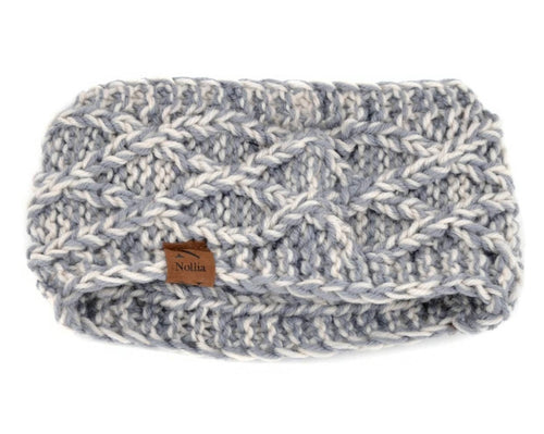 Chunky Knit Head Band - Grey