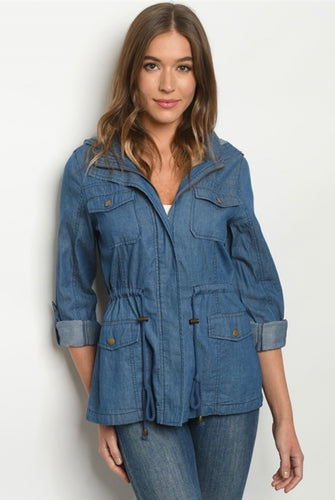 Denim Dress Jacket light wash