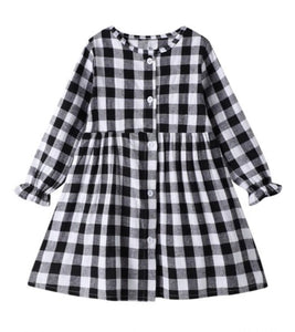 Buffalo Plaid Girls Dress