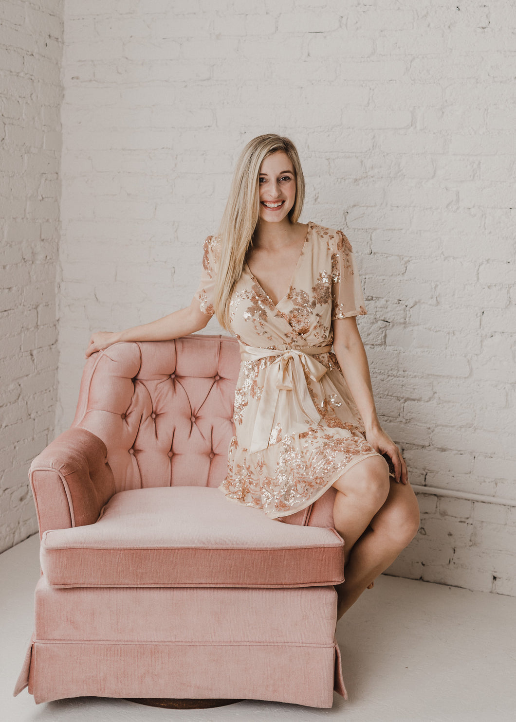 Catching Compliments Rose Gold Party Dress