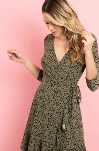 Crossover Wrap Dress