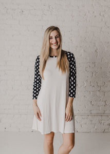 Patrise Polka Dot Swing Dress