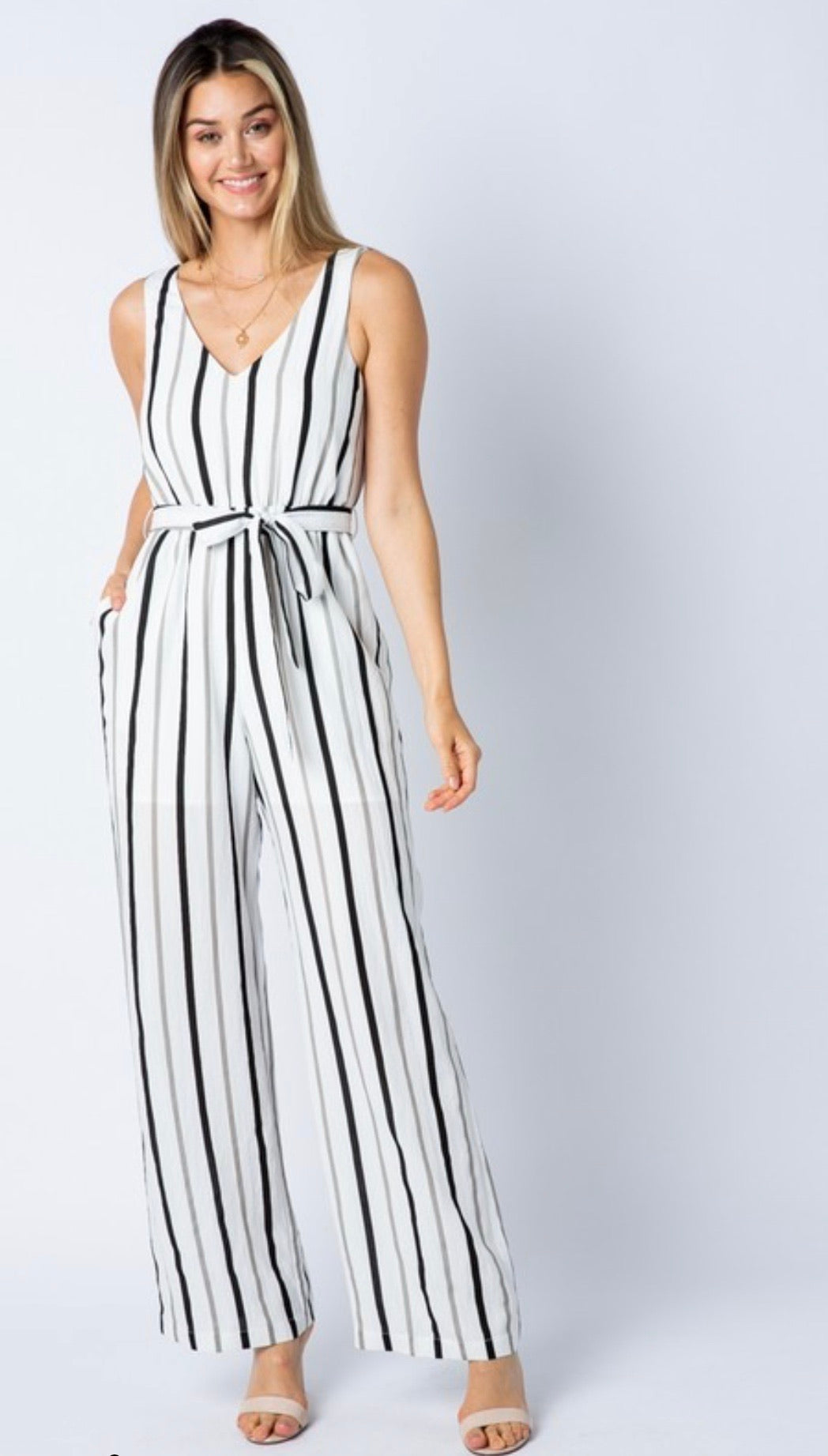 Boss Babe Striped Playsuit