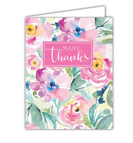 Many Thanks Floral Card