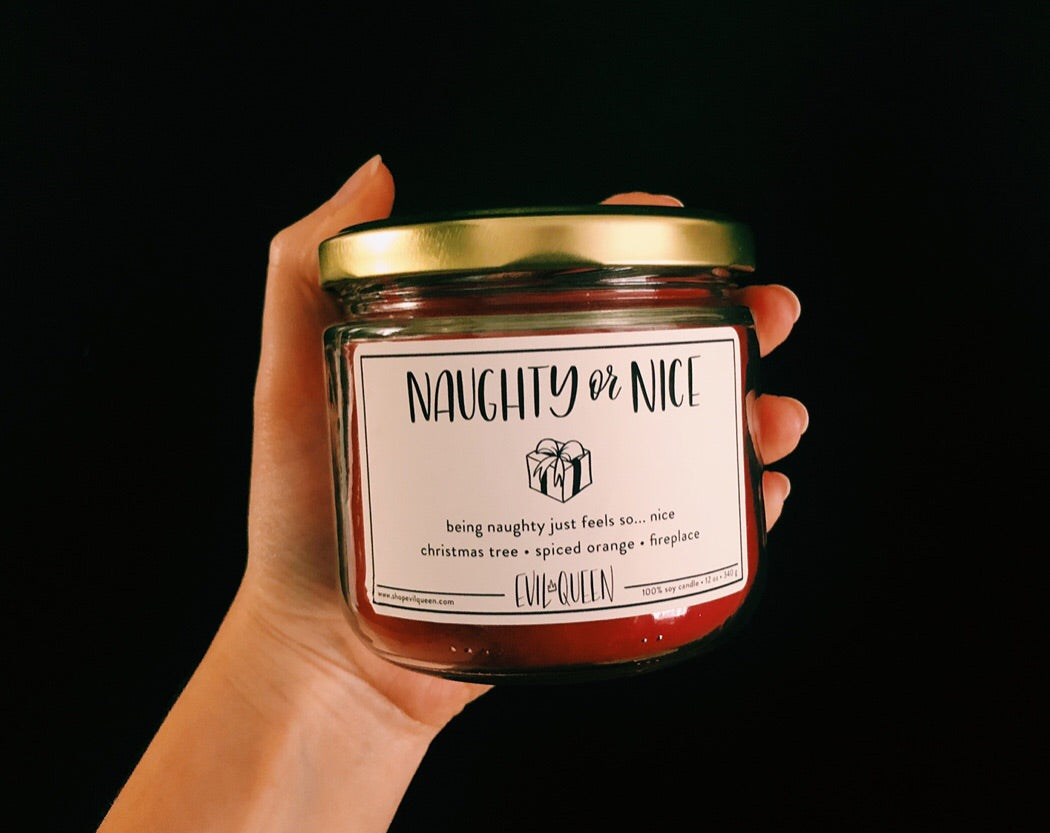 Naughty or Nice Candle - Evil Queen