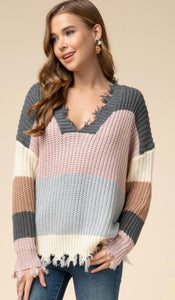 Endless Autumn Colorblock Sweater