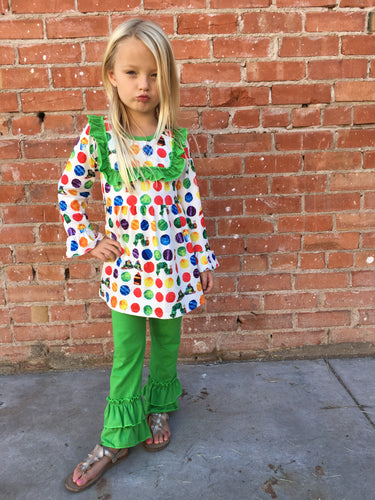 Nicole Very Hungry Caterpillar Ruffle Set