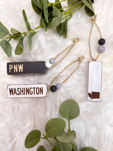 Washington Wooden Keychain/Ornament