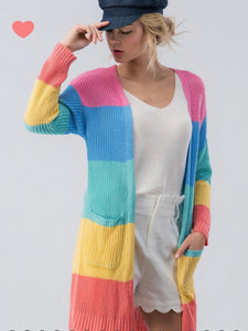 Leighton Color Block Cardigan