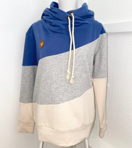 Three Layer TurtleNeck Hoodie - Blue