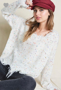 Spot On Distressed Sweater